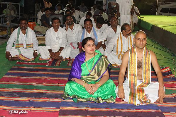 Astottara Satakundatmaka Srinivasa Maha Yagam Ankurarpanam