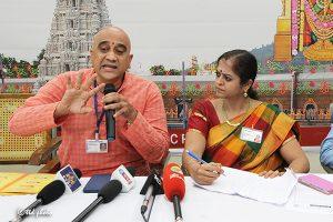 Project Officer of Sri Venkateswara Higher Vedic Studies Dr A Vibhishana Sharma