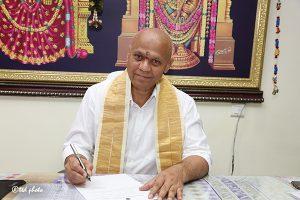 SRI AV DHARMA REDDY TAKING CHARGE AS MD SVBC1