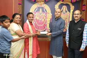 DONATION OF Rs ONE CRORE