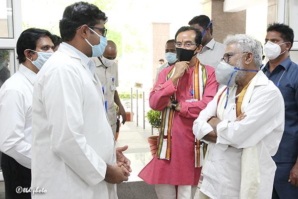Ttd Chairman Inspection of Sri Venkateswara Aravind Eye Hospital7