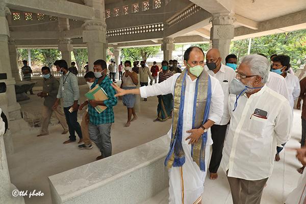 ttd chairman inspection of SV Saptha Go pradhakshina mandiram