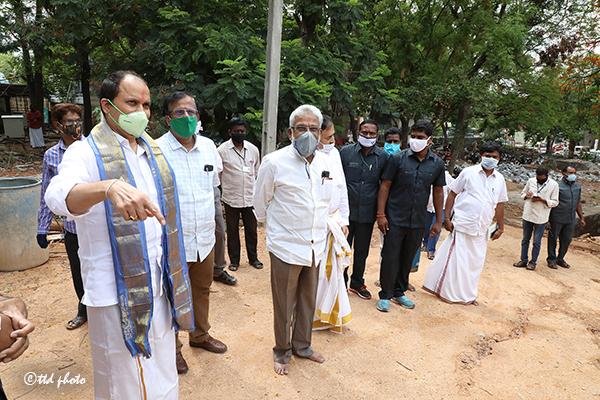 ttd chairman inspection of SV Saptha Go pradhakshina mandiram2