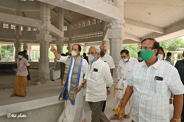ttd chairman inspection of SV Saptha Go pradhakshina mandiram3