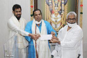 donation of seventy lakhs to pranadana trust
