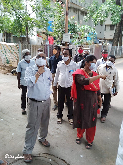 TTD JEO FOR EDUCATION AND HEALTH INSPECTS TTD EMPLOYEES QUARTERS1