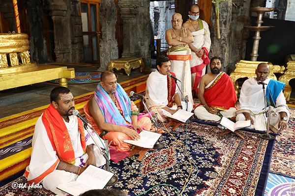 Pontiff participated in the Rig Veda Parayanam
