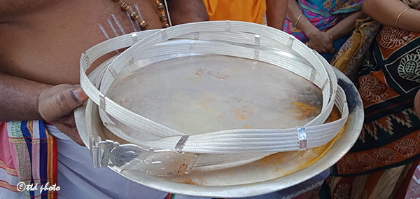 SILVER HARAM DONATED TO GOVINDARAJA2