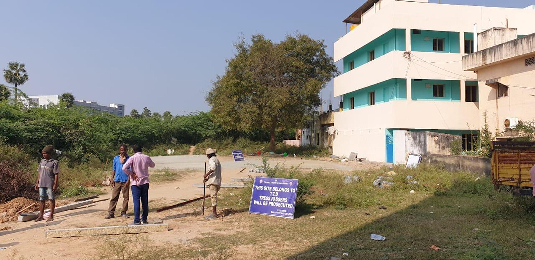 SIGN BOARDS ERECTED AT TTD PROPERTIES2