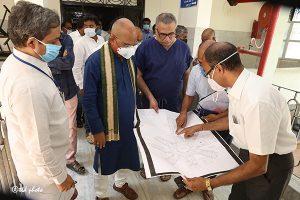 EO INSPECTING CONSTRUCTION OF PEDIATRIC HOSPITAL