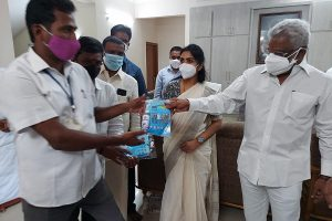 SANITIZERS AND MASKS DISTRIBUTED1