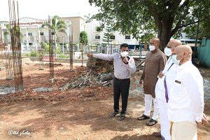 EO TTD INSPECTION OF NEW PARKAMANI BLDG CONSTRUCTION