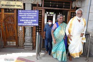 CHAIRMAN VISIT TO SRI VARAHASWAMY